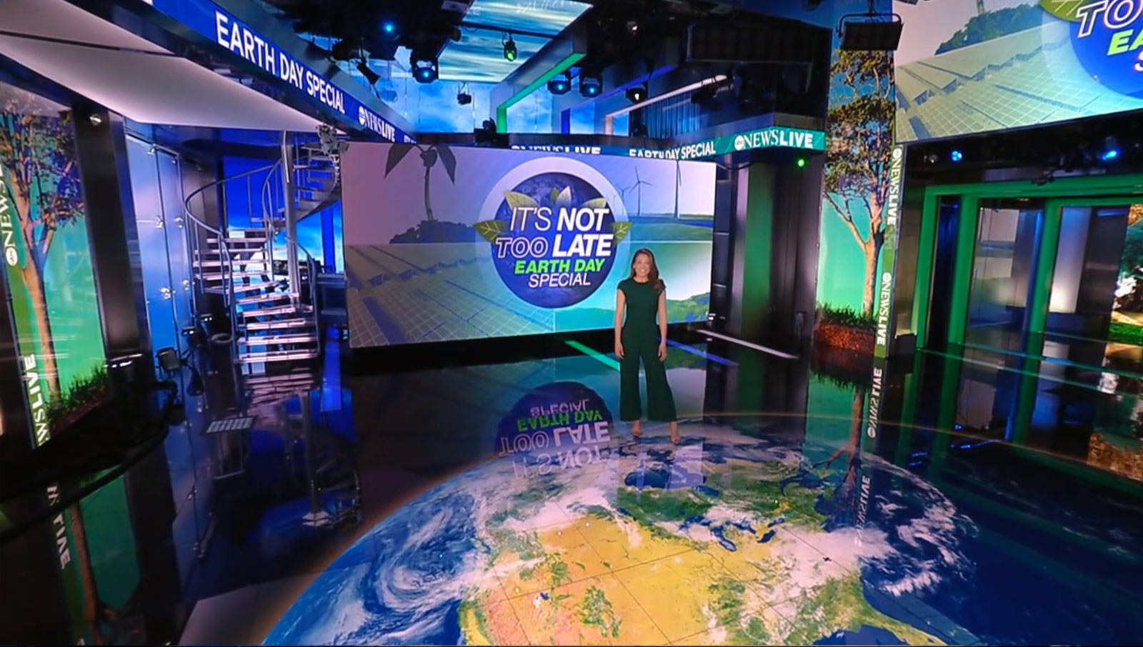 ABC News Live: Earth Day special- set screen design by K Brandon Bell