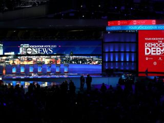 Set animations complete for ABC News: The Democratic Debate in New Hampshire