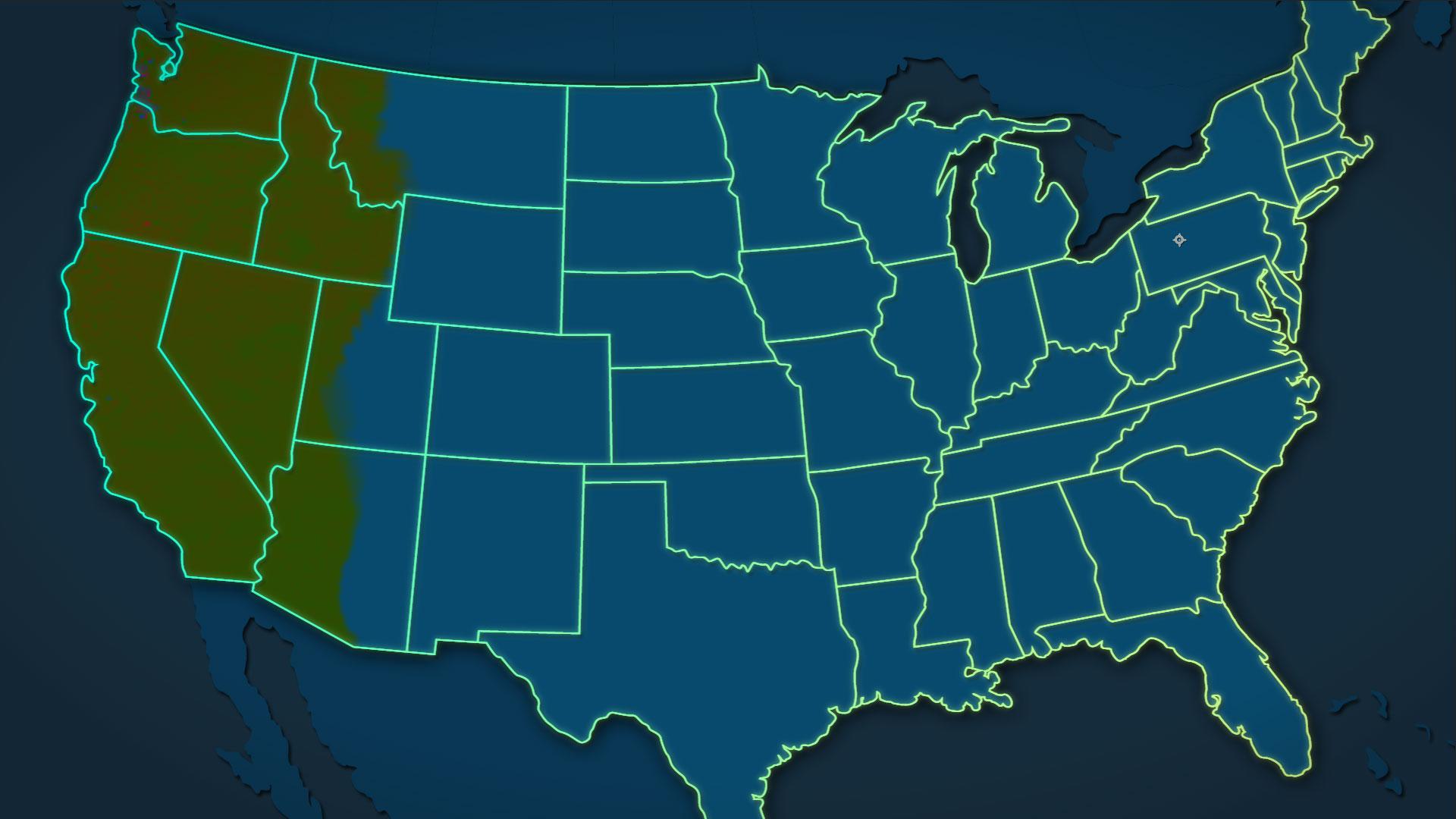 National Geographic TV - Meth Map {unused mockup)