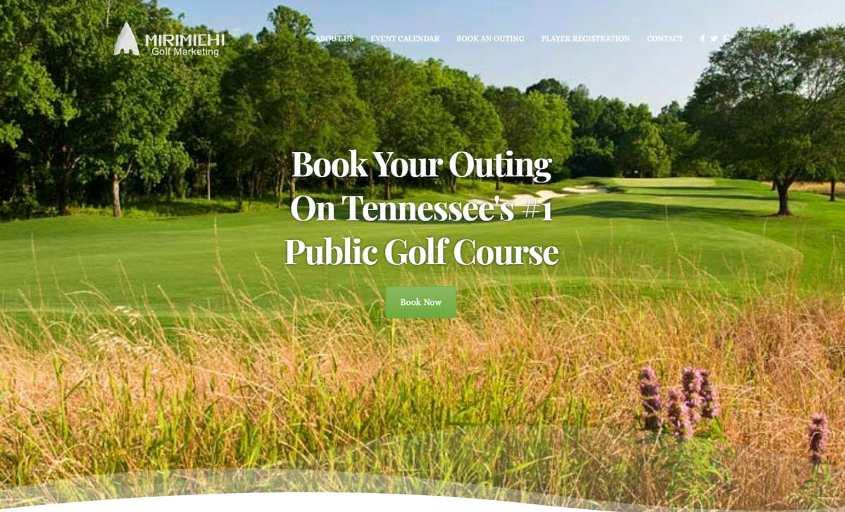 Mirimichi Golf Marketing : website