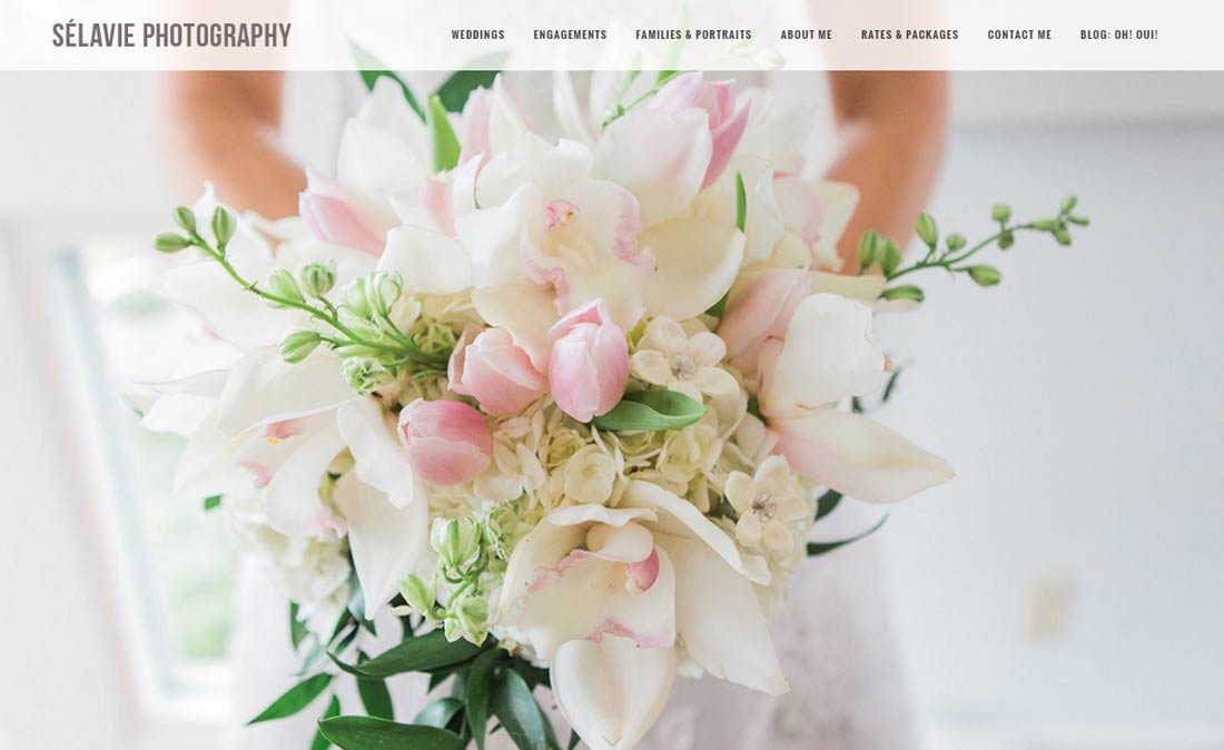 Selavie Photography website