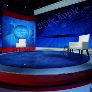 Set Graphics for The Vice President and the People, a live town hall with Joe Biden