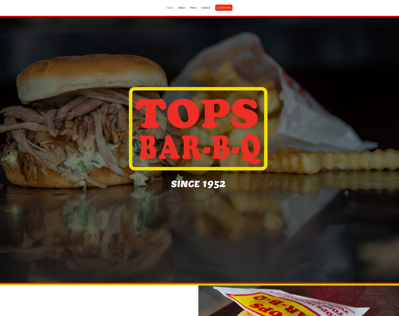 TopsBarBQ.com : Wordpress site by K Brandon Bell