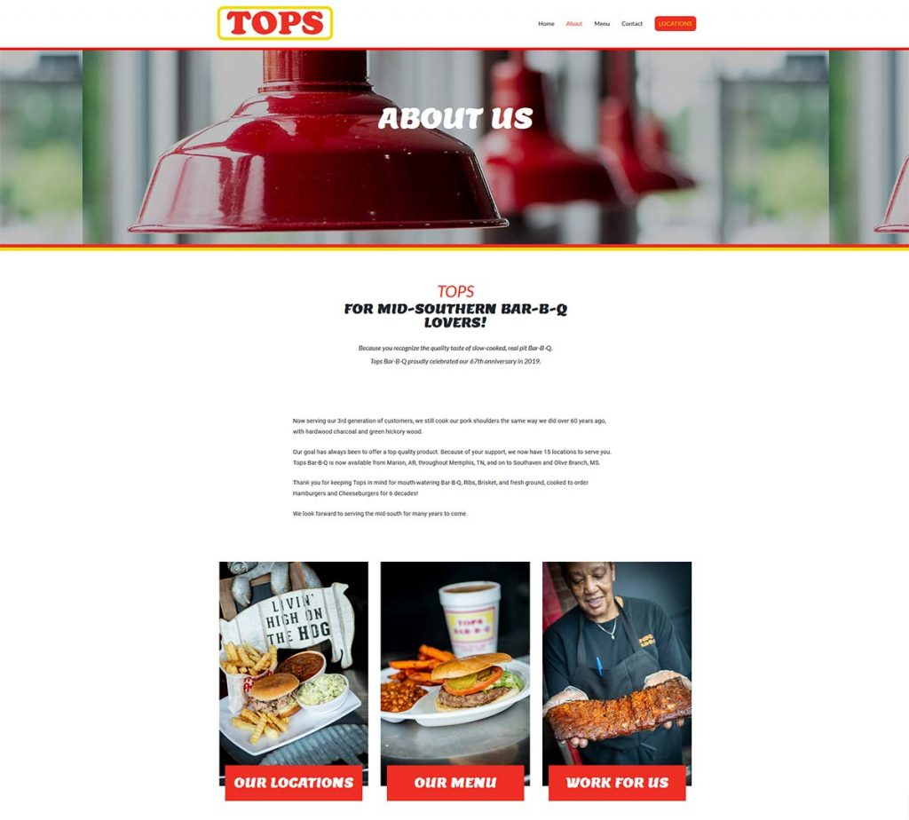 TopsBarBQ.com : WordPress site by K Brandon Bell